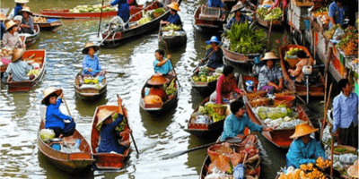 vietnam-floating market
