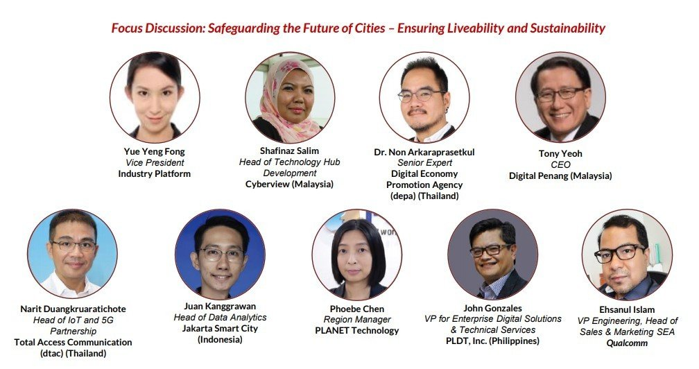 Cyberview, Digital Penang of Malaysia, Digital Economy Promotion Agency (depa) of Thailand, Jakarta Smart City of Indonesia, PLANET Technology, PLDT, Inc., Qualcomm and Total Access Communication (dtac)